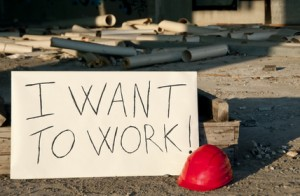 Message opposed to unemployment.