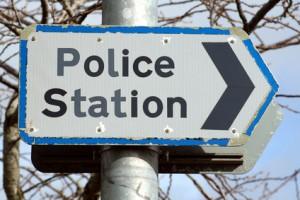 old police station sign.