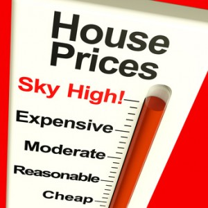 House Prices High Monitor Showing Expensive Mortgage Costs