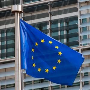 Single European flag in Brussels