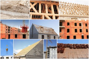 collage of photos of the industry of construction and building