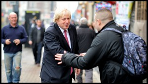Boris shaking hands