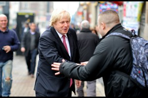 Boris shaking hands